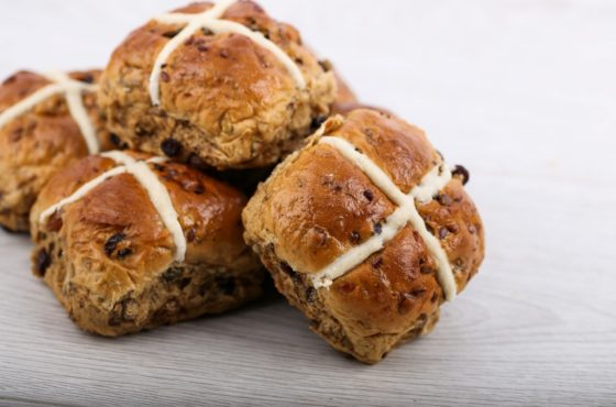 Multiseed Hot Cross Buns